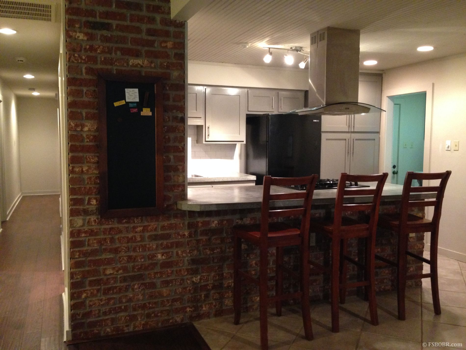 Beautifully Renovated Kitchen With Concrete Countertops